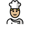 Man Cook: Medium-Light Skin Tone on OpenMoji 13.0