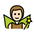 Man Fairy: Light Skin Tone on OpenMoji 13.0