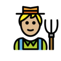 Man Farmer: Medium-Light Skin Tone on OpenMoji 13.0