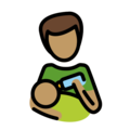 Man Feeding Baby: Medium Skin Tone on OpenMoji 13.0