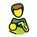 Man Feeding Baby on OpenMoji 13.0