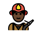 Man Firefighter: Dark Skin Tone on OpenMoji 13.0