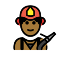 Man Firefighter: Medium-Dark Skin Tone on OpenMoji 13.0