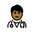 Man Health Worker: Medium-Dark Skin Tone on OpenMoji 13.0