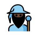 Man Mage: Dark Skin Tone on OpenMoji 13.0