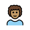 Man: Medium Skin Tone, Curly Hair on OpenMoji 13.0