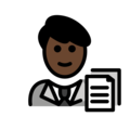 Man Office Worker: Dark Skin Tone on OpenMoji 13.0