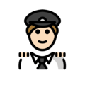 Man Pilot: Light Skin Tone on OpenMoji 13.0