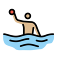 Man Playing Water Polo: Medium-Light Skin Tone on OpenMoji 13.0