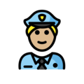 Man Police Officer: Medium-Light Skin Tone on OpenMoji 13.0