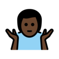 Man Shrugging: Dark Skin Tone on OpenMoji 13.0