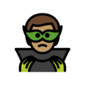 Man Supervillain: Medium Skin Tone on OpenMoji 13.0