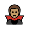Man Vampire: Medium Skin Tone on OpenMoji 13.0