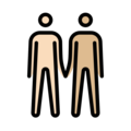 Men Holding Hands: Light Skin Tone, Medium-Light Skin Tone on OpenMoji 13.0