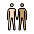 Men Holding Hands: Light Skin Tone, Medium Skin Tone on OpenMoji 13.0