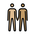 Men Holding Hands: Medium-Light Skin Tone, Medium Skin Tone on OpenMoji 13.0
