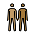 Men Holding Hands: Medium Skin Tone, Medium-Dark Skin Tone on OpenMoji 13.0