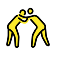 Men Wrestling on OpenMoji 13.0