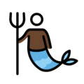 Merman: Dark Skin Tone on OpenMoji 13.0