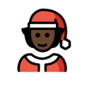 Mx Claus: Dark Skin Tone on OpenMoji 13.0