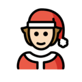 Mx Claus: Light Skin Tone on OpenMoji 13.0