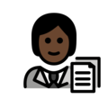 Office Worker: Dark Skin Tone on OpenMoji 13.0