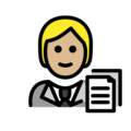 Office Worker: Medium-Light Skin Tone on OpenMoji 13.0