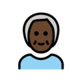 Older Person: Dark Skin Tone on OpenMoji 13.0