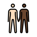 People Holding Hands: Light Skin Tone, Dark Skin Tone on OpenMoji 13.0