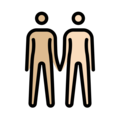 People Holding Hands: Medium-Light Skin Tone, Light Skin Tone on OpenMoji 13.0