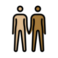 People Holding Hands: Medium-Light Skin Tone, Medium-Dark Skin Tone on OpenMoji 13.0