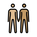 People Holding Hands: Medium-Light Skin Tone, Medium Skin Tone on OpenMoji 13.0