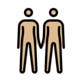 People Holding Hands: Medium-Light Skin Tone on OpenMoji 13.0