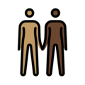 People Holding Hands: Medium Skin Tone, Dark Skin Tone on OpenMoji 13.0