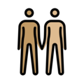 People Holding Hands: Medium Skin Tone, Medium-Light Skin Tone on OpenMoji 13.0