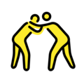 People Wrestling on OpenMoji 13.0