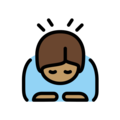 Person Bowing: Medium Skin Tone on OpenMoji 13.0