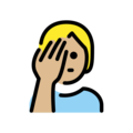 Person Facepalming: Medium-Light Skin Tone on OpenMoji 13.0