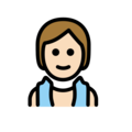 Person in Steamy Room: Light Skin Tone on OpenMoji 13.0