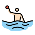 Person Playing Water Polo: Light Skin Tone on OpenMoji 13.0
