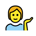 Person Tipping Hand on OpenMoji 13.0