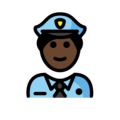 Police Officer: Dark Skin Tone on OpenMoji 13.0
