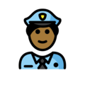 Police Officer: Medium-Dark Skin Tone on OpenMoji 13.0