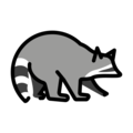 Raccoon on OpenMoji 13.0