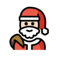 Santa Claus: Light Skin Tone on OpenMoji 13.0