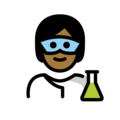Scientist: Medium-Dark Skin Tone on OpenMoji 13.0