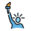 Statue of Liberty on OpenMoji 13.0