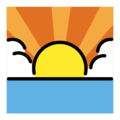 Sunrise on OpenMoji 13.0