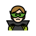 Supervillain: Light Skin Tone on OpenMoji 13.0