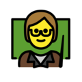 Teacher on OpenMoji 13.0